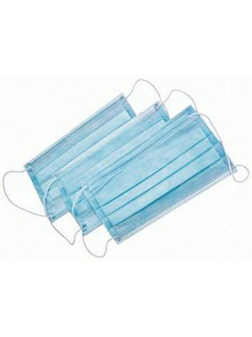 Маски для защиты органов дыхания, паянная, одноразовая, трехслойная 50 штук в упаковке, фото 2