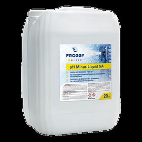 Froggy «рН - Minus Liquid HA» препарат для зниження рівня pH рідкий (на основі соляної кислоти), 20 л
