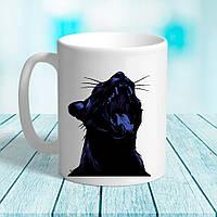Белая кружка (чашка) с принтом Кот