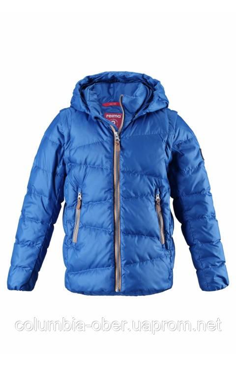 Зимняя пуховая куртка - жилетка для мальчика Reima Martti 531345-6680. Размеры 128 - 158.