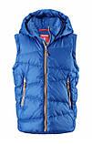 Зимняя пуховая куртка - жилетка для мальчика Reima Martti 531345-6680. Размеры 128 - 158., фото 4