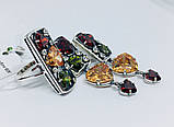 Серебряный гарнитур с цветными фианитами Тунис, фото 3