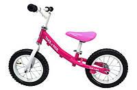 Детский велобег Take&Ride на резиновых надувных колесах RB-40 Classic розово-белый.