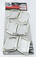 Декоративные наклейки - молдинги на передние крылья автомобиля, комплект 6 штук