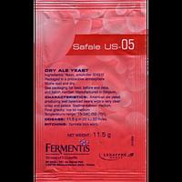 Пивные элевые дрожжи Fermentis Safale US-05 (Срок годности - до 2022 года)