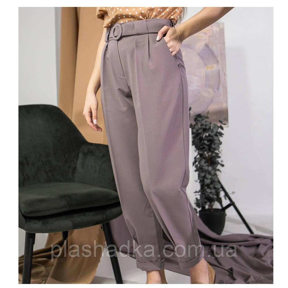 Классические женские брюки, пудра (Украина)
