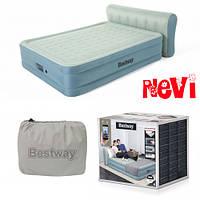 Надувная двухспальная кровать со спинкой и встроенным электронасосом Bestway 69060 (229-152-79 см) 11/100,2