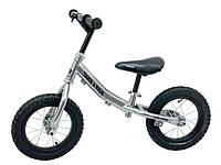 Детский велобег Take&Ride на резиновых надувных колесах RB-40 Classic хром.