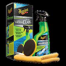 Набор для очистки кузова з эффектом керамики - Meguiar's Hybrid Ceramic Quik Clay Kit (G200200)