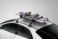 Багажник на крышу автомобиля с замком для перевозки 4-х пар лыж и 2-х пар сноубордов.