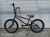 """Трюковый велосипед Crosser 20""""  BMX  на  85% собран.в коробке шикарный  цвет! + ПОДАРОК!"""