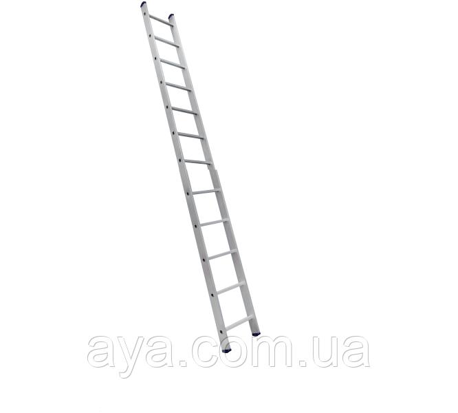 Односекционная приставная лестница на 12 ступеней аюминиевая