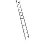 Односекционная приставная лестница на 12 ступеней аюминиевая, фото 1
