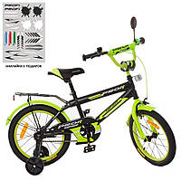 "Велосипед Profi 16"" Inspirer SY1651 Black / Lime mat"