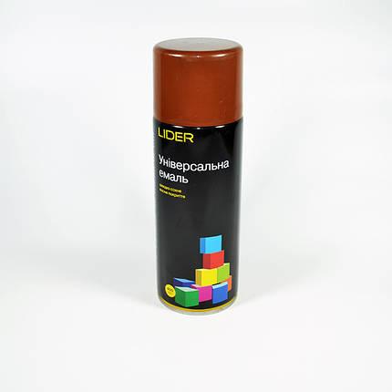Краска аэрозольная LIDER коричневая 8011 (400 мл), фото 2