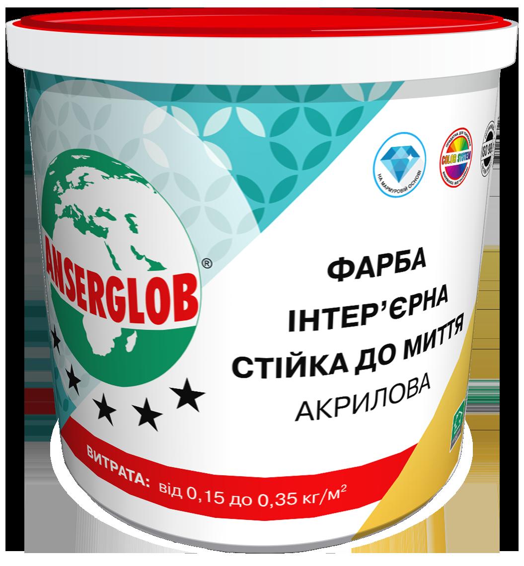 Акриловая краска стойкая к мытью ANSERGLOB (1,4 кг)