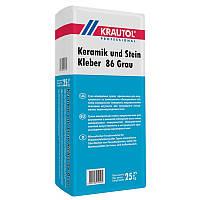 """Клей для плитки """"Krautol"""" Keramik und Stein Kleber 86 Grau эластичный"""