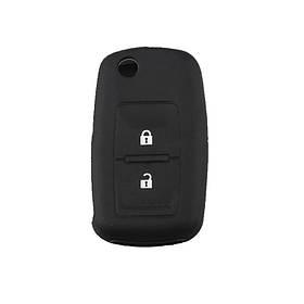 Силиконовый чехол 2 кнопки на ключ Good Idea VW/Skoda/Seat Черный (5014ksi100463)