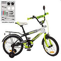 "Велосипед Profi 16"" Inspirer SY1654 Black / White / Lime mat"