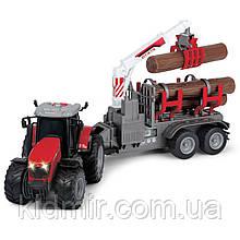 Трактор з причепом світло і звук Dickie 3737003