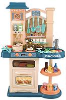 Детская кухня Bozhi Toys Fun Cooking 838, световые и звуковые эффекты, 39 предметов, течет вода, холодный пар