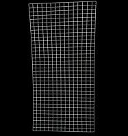 Сетка (решетка) 200х100см проволока 3мм торговая металлическая белая ячейка 5х5 см