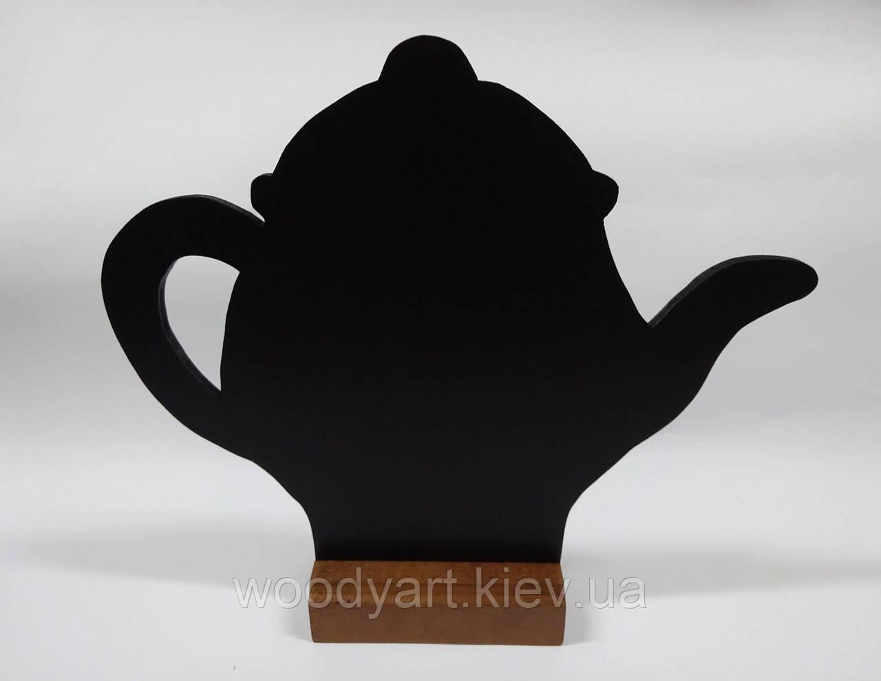 """Менюхолдер меловой """"чайник"""", 25 * 21 см"""