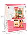 Детская кухня Bozhi Toys Fun Cooking 838, световые и звуковые эффекты, 39 предметов, течет вода, холодный пар Розовый, фото 2