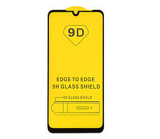 Защитное стекло TDG 9D для ZTE Blade A5 2020 Full Glue черный 0,26 мм в упаковке