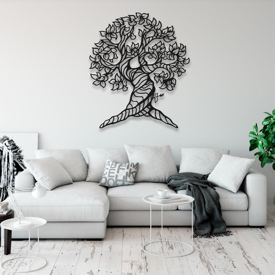 "Декор для стен. Панно из металла ""Дерево 01"""