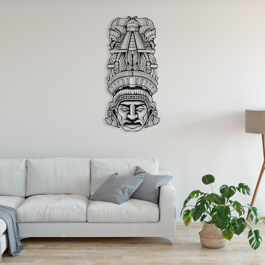 """Декор для стен. Панно из металла """"Этническая маска Totem"""""""