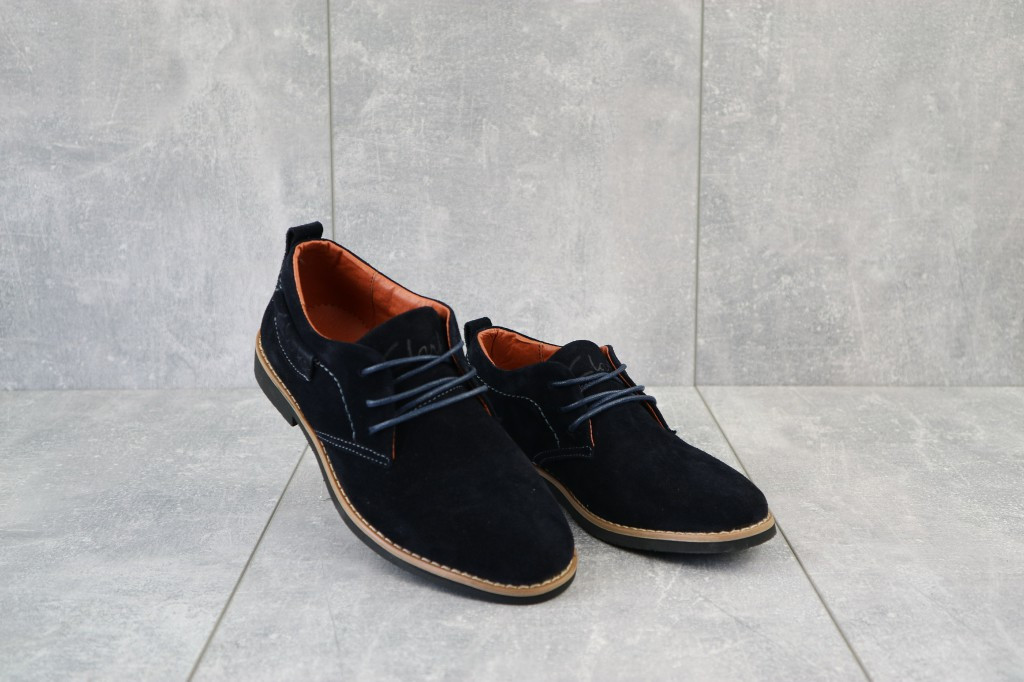 Туфли Yuves М6 (Clarks) (весна/осень, подростковые, замша, синий)