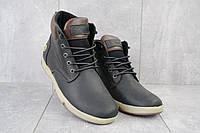 Ботинки мужские Yuves 772 ChernMat черные-матовые (натуральная кожа, зима), фото 1