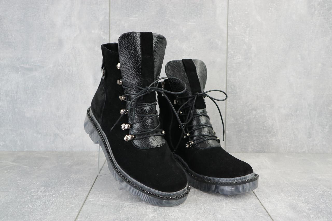 Ботинки женские Mkrafvt 1188/2 черные (замша, зима)