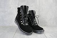 Ботинки женские Mkrafvt 1188/2 черные (замша, зима), фото 1