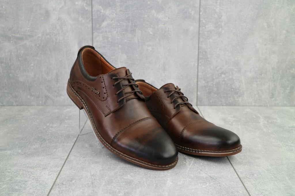 Туфли Vivaro 555 (весна/осень, мужские, натуральная кожа, коричневый)