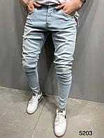 Мужские стильные джинсы , светлые #3