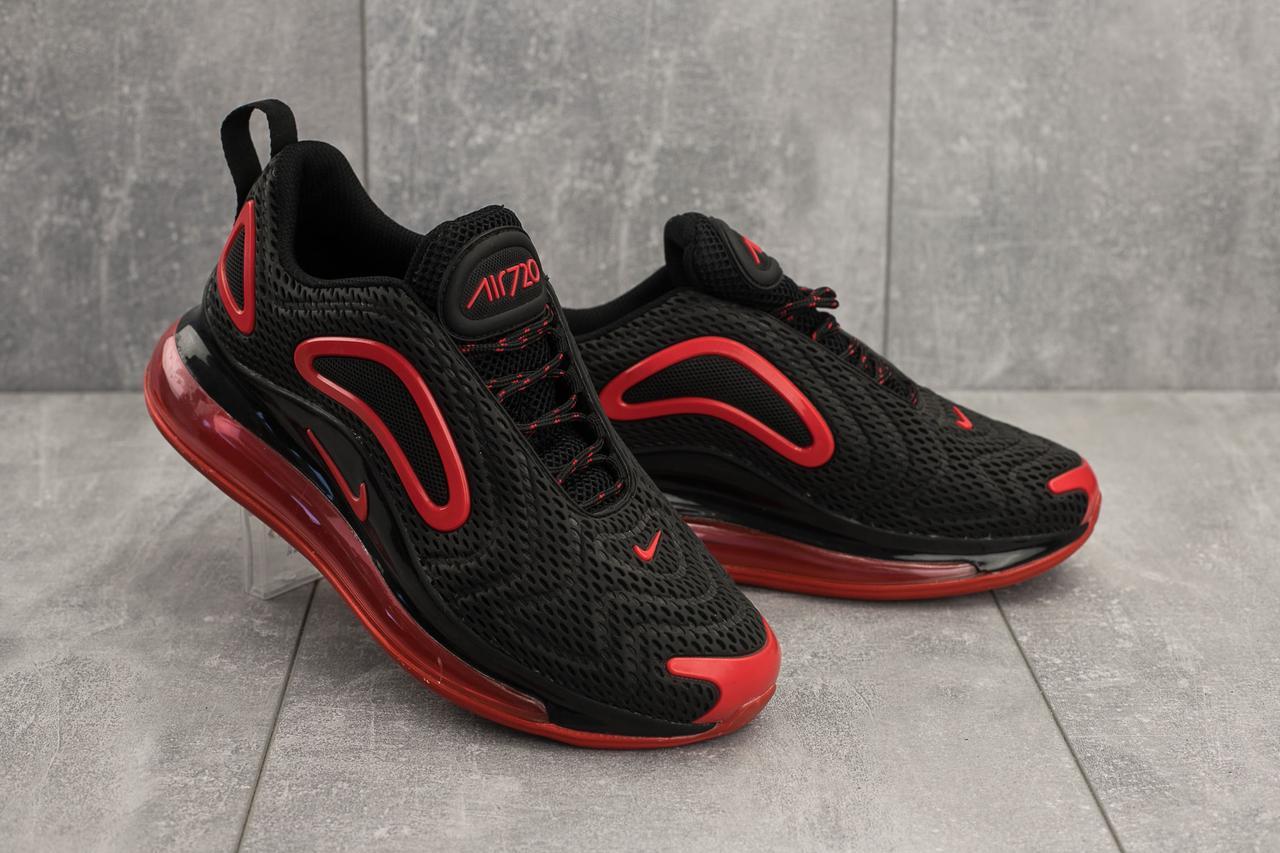 Кроссовки 003 (Nike AirMax 720) (весна/осень, мужские, текстиль, черный)