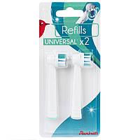Комплект насадок Auchan Refills для электрических зубных щеток 2шт