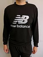 Свитшот мужской черный в стиле New Balance Размер 48, 52