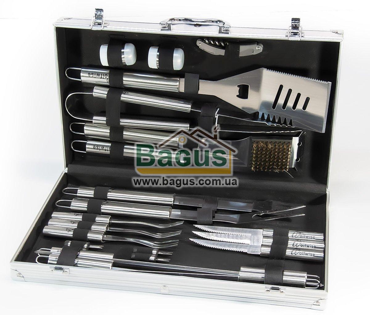 Набор инструментов для барбекю из нержавеющей стали в чемодане (23пр./наб.) Dynasty DYN-12005