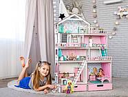 """""""БОЛЬШОЙ ОСОБНЯК"""" кукольный домик NestWood для кукол LOL/OMG/Барби, розовый, фото 2"""