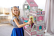 """""""БОЛЬШОЙ ОСОБНЯК"""" кукольный домик NestWood для кукол LOL/OMG/Барби, розовый, фото 4"""