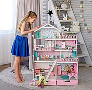 """""""БОЛЬШОЙ ОСОБНЯК"""" кукольный домик NestWood для кукол LOL/OMG/Барби, розовый, фото 5"""