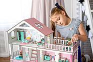 """""""БОЛЬШОЙ ОСОБНЯК"""" кукольный домик NestWood для кукол LOL/OMG/Барби, розовый, фото 6"""