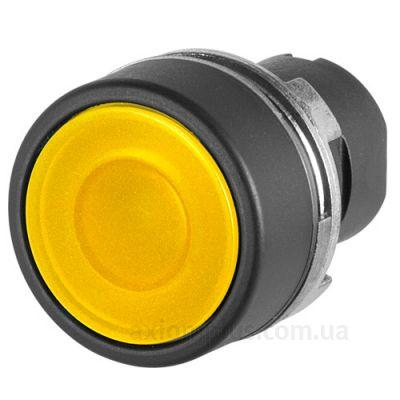 New Elfin, Кнопка жовта, цоколь - круглий, пластиковий, ne020PTAIGK