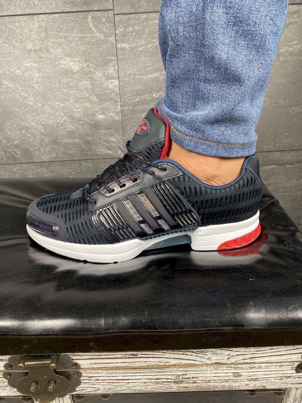Кроссовки A 1094 -3 (Adidas Climacool) (весна/осень, мужские, текстиль, синий-черный)