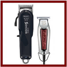 "Комбо-набор ""WAHL Barber Spirit"" (Wahl Senior Cordless + Wahl Detailer Wide)"