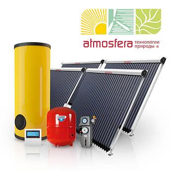 Геліотермальна система ГВП на вукумних колекторах 500 л гарячої води на добу на 10 чоловік