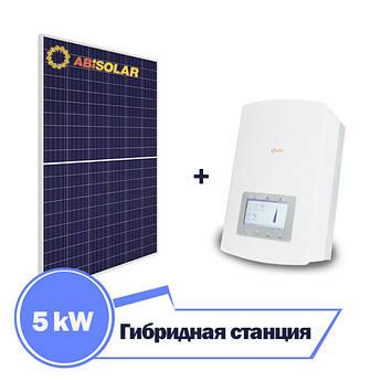 Сонячна гібридна станція на 5 кВт